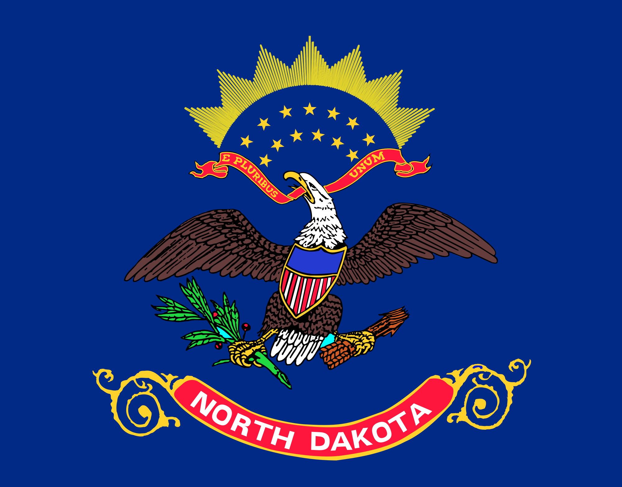 North Dakota - 4x6'