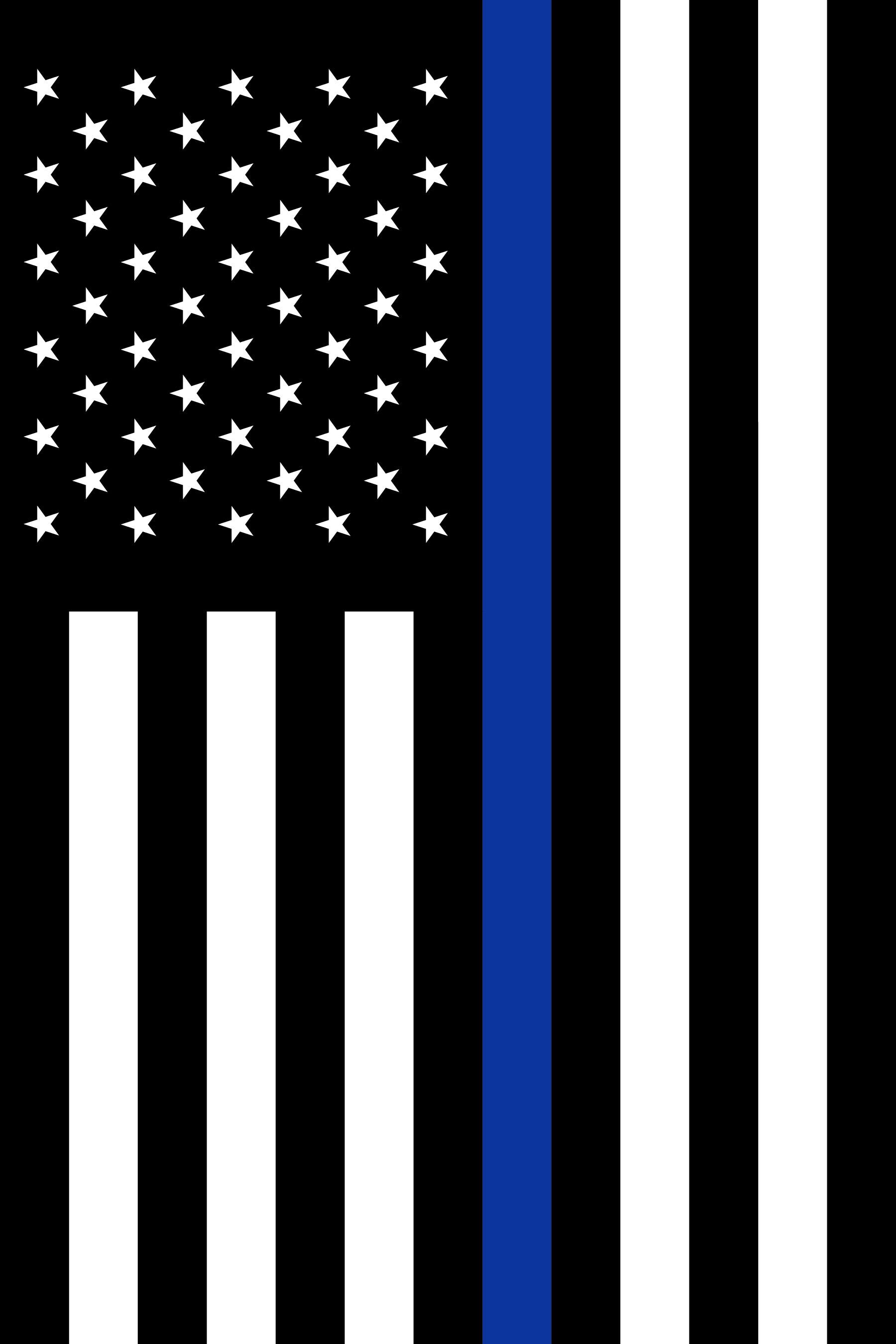 "Thin Blue Line U.S. - 18x12"""