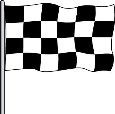Attraction Flag - B&W Checker 3x5'