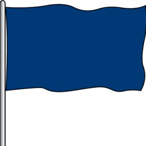 Solid Attraction Flag - O.G. Blue 3x5'