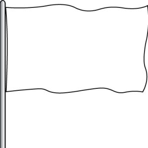 Solid Attraction Flag - White 3x5'