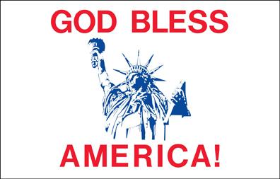 God Bless America - 3x5'