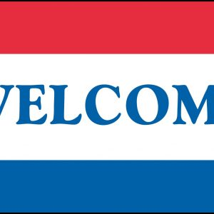 Message Flag - Welcome 3x5'