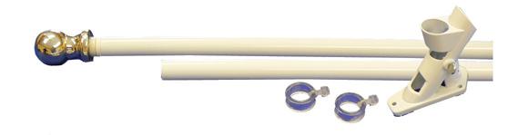 The Un-Rapper Pole Kit - White Aluminum 6'